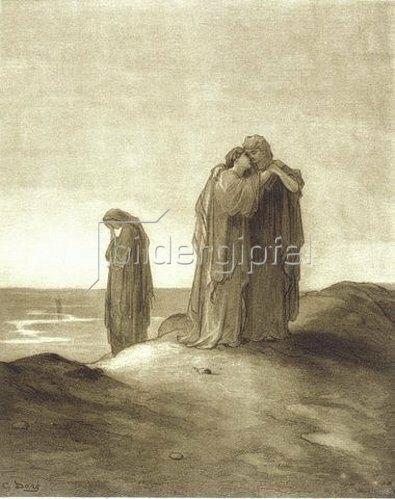Gustave Doré: Naomi und ihre Schwiegertöchter Ruth und Orpa.