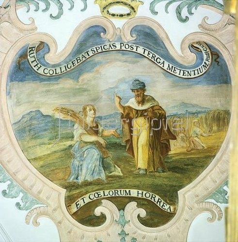 Johann Georg Lederer: Ruth bei der Ährenlese auf den Feldern des Boas. 1733    AT 1.Rut 2.1-2.3
