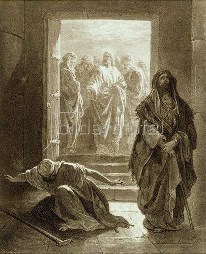 Gustave Doré: Das Gleichnis vom Pharisäer und Zöllner.
