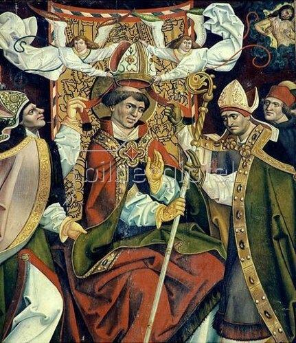 Jan Pollak: Bischofskrönung des Hl. Arsacius. (Hochaltar, Seitenflügel)