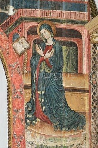 Maria Verkündigung (siehe auch Bildnummer 30137). Um 1500