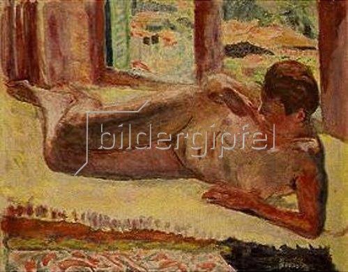 Pierre Bonnard: Liegender Akt. Um 1930.