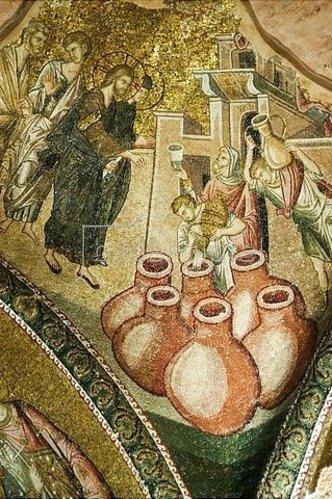 Byzantinisch: Die Hochzeit von Kanaa. 1315-1321