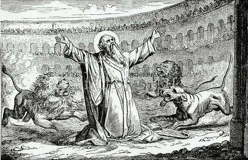 Unbekannter Künstler: Das Martyrium des hl. Ignatius von Antiochia (117 n. Chr.). Um 1900