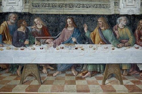 Unbekannter Künstler: Das letzte Abendmahl.
