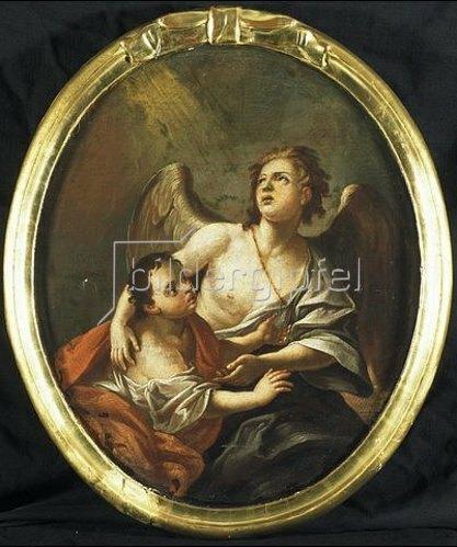 Unbekannter Künstler: Erzengel Raphael mit Tobias.