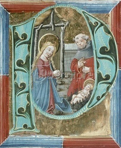Unbekannter Künstler: Die Geburt Christi. Um 1490