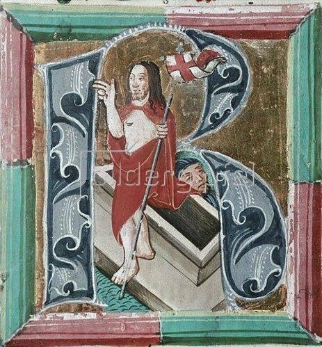 Unbekannter Künstler: Auferstehung Christi. Um 1490
