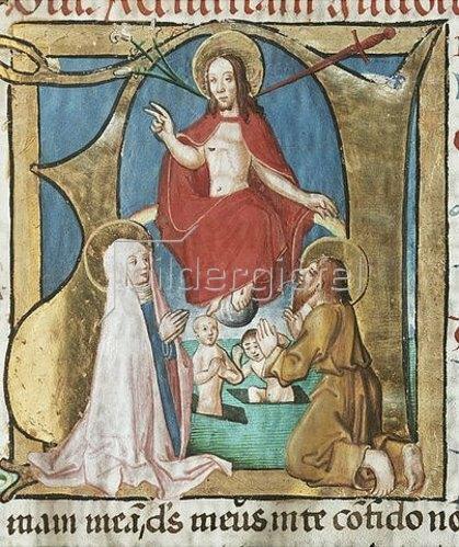 Unbekannter Künstler: Jesus Christus als Weltenrichter. Um 1490
