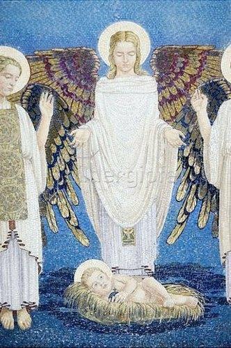 Unbekannter Künstler: Geburt Christi. 1924