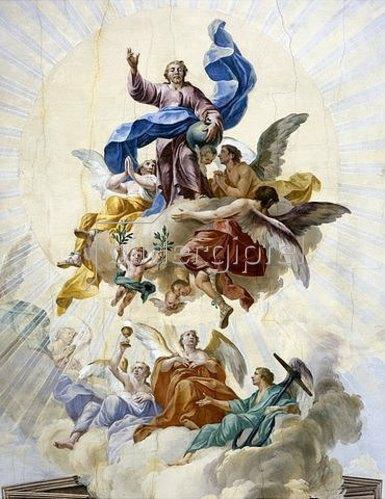 Christian Wink: Christus als Welterlöser mit den Allegorien Glaube, Hoffnung und Liebe. 1777