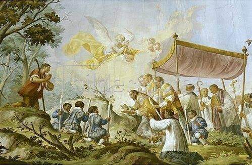 Christian Wink: Wallfahrtsgründung. Erhebung der Hostie durch Bischof Hartwig. 1777
