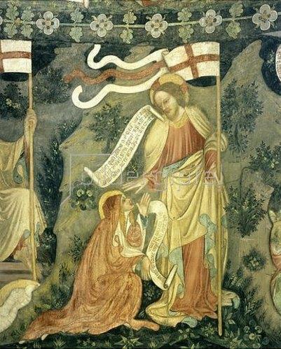 Unbekannter Künstler: Christus begenet Maria Magdalen nach seiner Auferstehung.