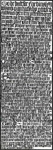 Die Hildesheimer Katechismustafel des Nikolaus von Kues.