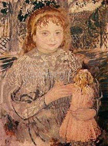 Maurice Denis: Mädchen mit Puppe. 1896.