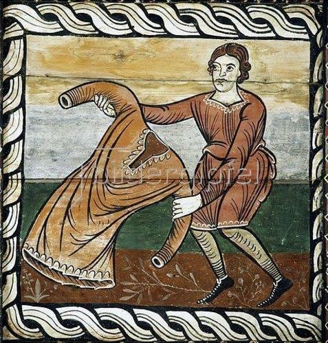 Unbekannter Künstler: Ausbreiten der Mäntel beim Einzug Christis in Jerusalem. 1109-14