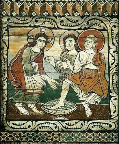 Unbekannter Künstler: Die Fußwaschung. 1109-14