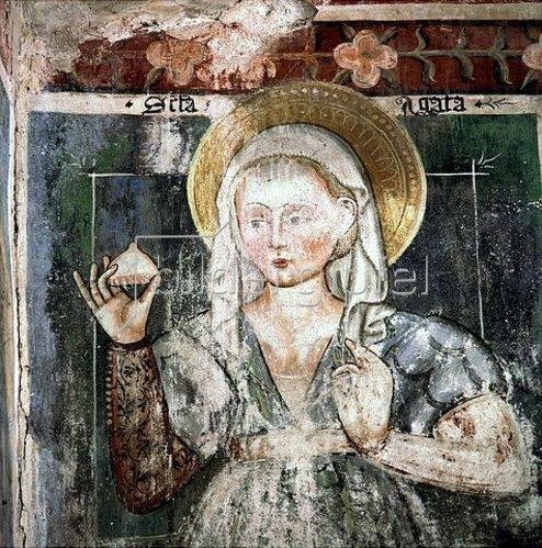 Unbekannter Künstler: Die hl. Agatha.