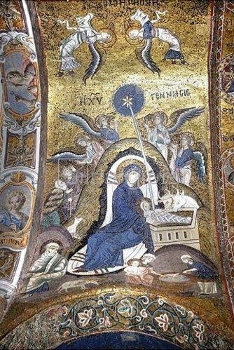 Byzantinisch: Christi Geburt.