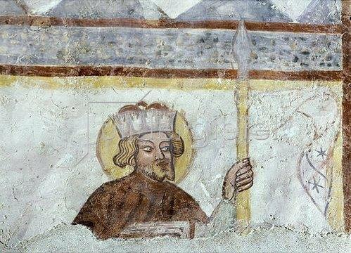 Unbekannter Künstler: Hl. Leopold von Österreich. Um 1380
