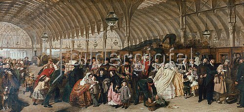 William Powel Frith: Der Bahnhof. 1862