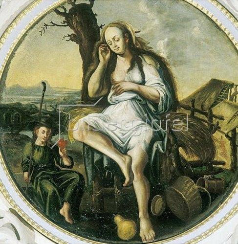 Unbekannter Künstler: Trägheit. Um 1690
