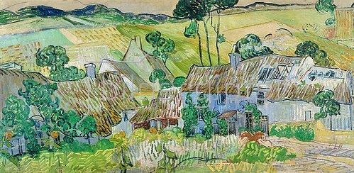 Vincent van Gogh: Bauernhöfe bei Auvers. 1890.