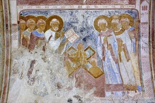 Der Hl. Petrus bei der Taufe. 1130-40