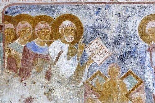 Hl. Petrus bei der Taufe (Detail). 1130-40