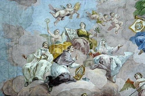 Bartholomäus Altomonte: Allegorie der Kirche (Detail eines Deckengemäldes). 1773