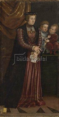 Deutsch: Anna, Tochter des Ladislaus III. von Schweden und Polen und zwei Prinzen.