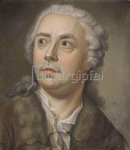 Anton Raphael Mengs: Edelmann mit weißer Alongeperücke.