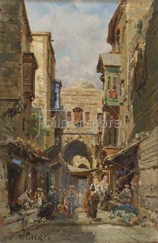 Carl Wuttke: Die Davidstraße in Jerusalem