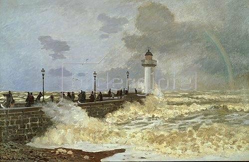 Claude Monet: Der Kai von Le Havre. 1868