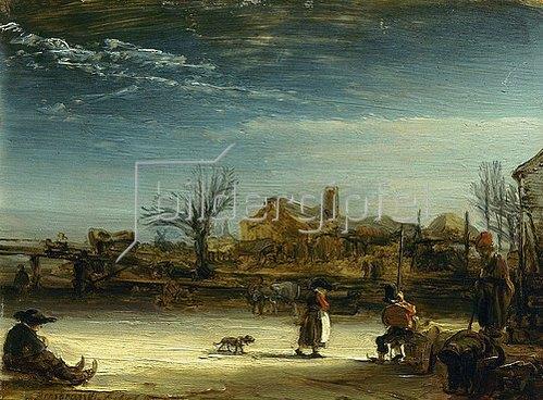 Rembrandt van Rijn: Winterlandschaft. 1646