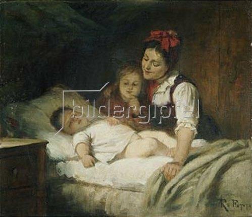 Rudolf Epp: Das schlafende Kleinkind.