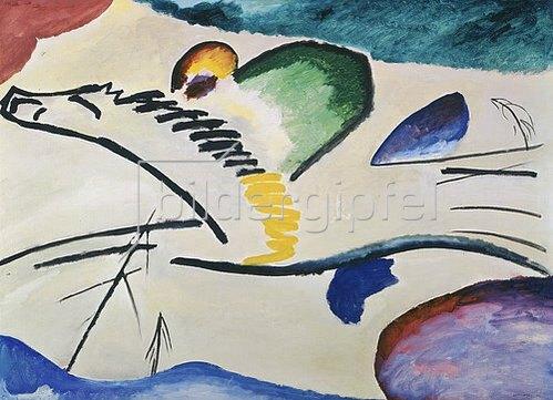 Wassily Kandinsky: Lyrisches (Reiter zu Pferd). 1911.