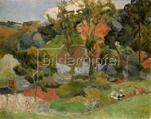 Paul Gauguin: Landschaft in Pont-Aven. 1888
