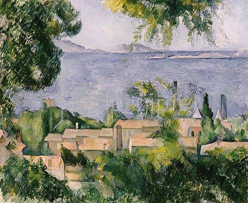 Paul Cézanne: Die Hausdächer von L'Estaque. 1883-85