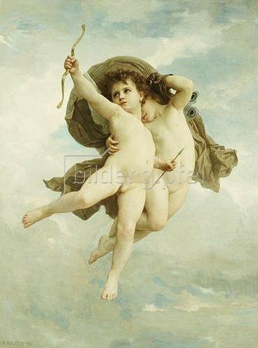 William Adolphe Bouguereau: L'Amour Vainqueur (Die besiegte Liebe). 1886