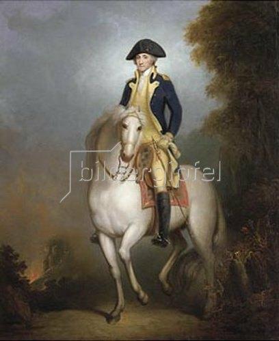 Rembrandt Peale: Reiterbildnis von George Washington.