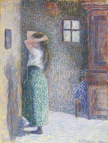 Camille Pissarro: Junges Mädchen bei der Toilette. 1888