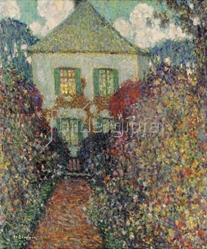Henri Le Sidaner: Das Haus von Jean-Jacques Rousseau. 1936