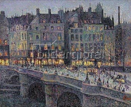 Maximilien Luce: Le Quai Conti. Um 1884