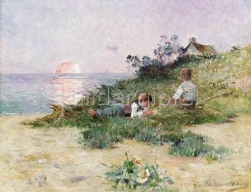 Ferdinand du Puigaudeau: Kinder in den Dünen.