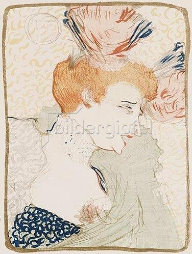 Henri de Toulouse-Lautrec: Mademoiselle Marcelle Lender En Buste. 1895
