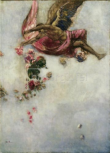 Odilon Redon: Der Fall des Ikarus.