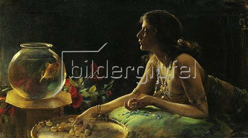 Charles Courtney Curran: Der Goldfisch.