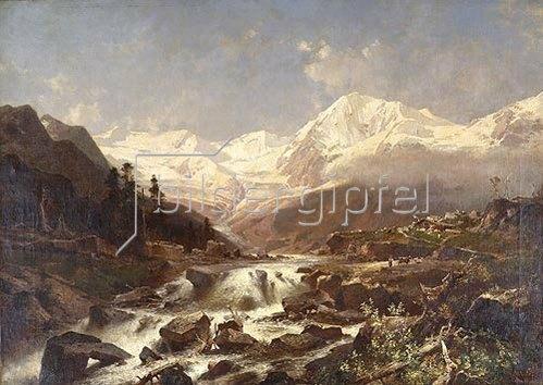 Richard Unterberger: Königspitze, Tirol. 1877
