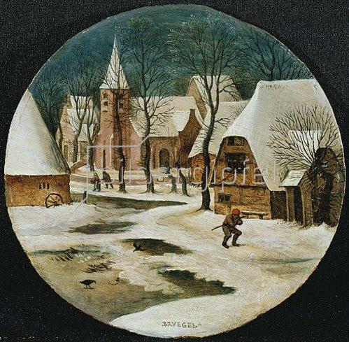 Pieter Brueghel d.J.: Dorfansicht im Winter.